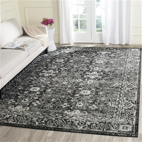 Safavieh Evoke 6.58-ft x 13.08-ft Charcoal and Ivory Indoor Area Rug