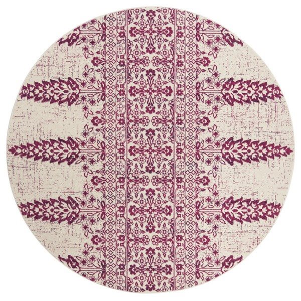 Safavieh Evoke 6.58-ft Ivory and Fuchsia Indoor Area Rug