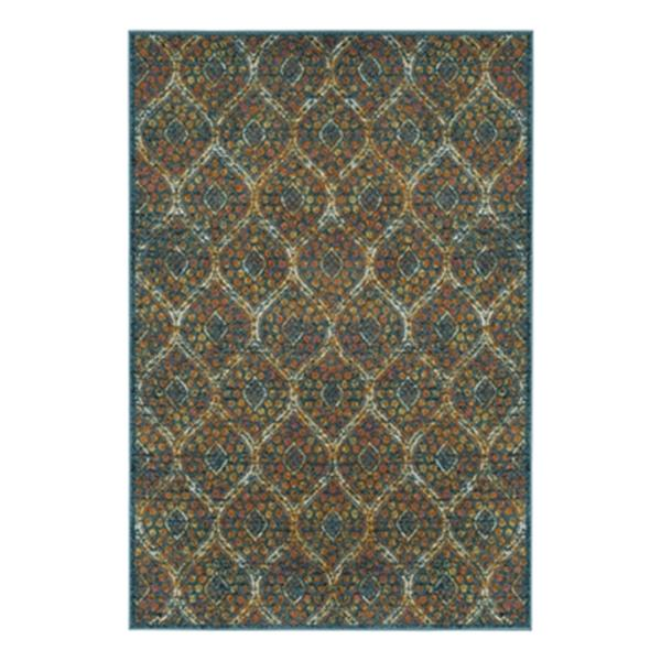 Safavieh Madison 9-ft x 6-ft Blue and Orange Area Rug