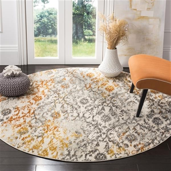 Safavieh Madison 9.16-ft x 6.58-ft Cream and Orange Area Rug
