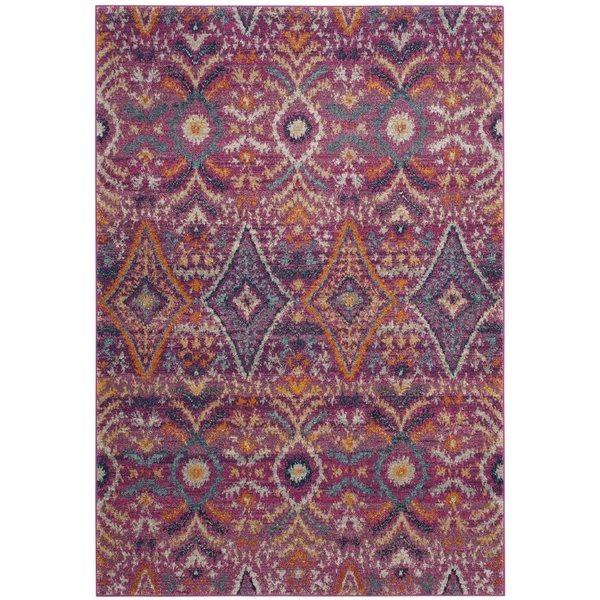 Safavieh Madison 9.16-ft x 6.58-ft Fushsia and Multicolour Area Rug