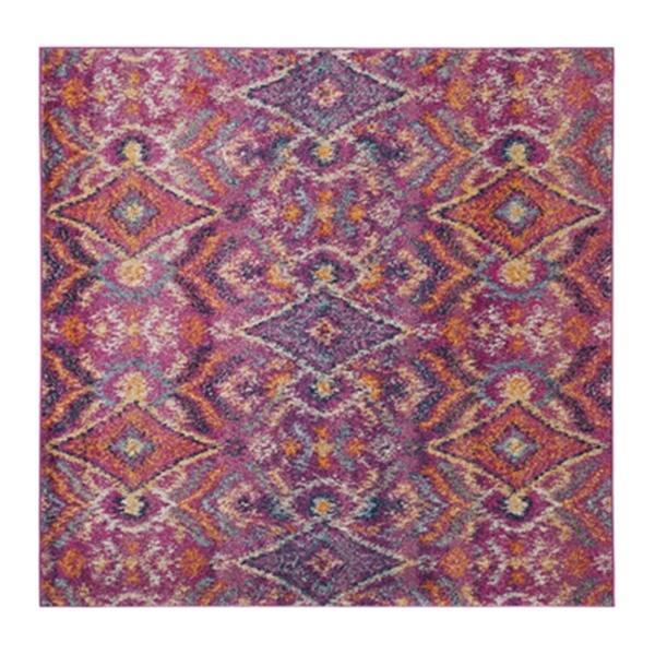 Safavieh Madison 6.58-ft x 6.58-ft Fushsia and Multicolour Area Rug