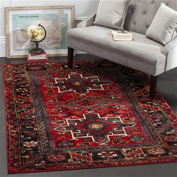 Safavieh Vintage Hamadan 20-ft x 2.16-ft Red and Multicolor Indoor Area Rug