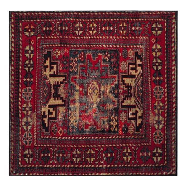 Safavieh Vintage Hamadan 6.58-ft x 14.91-ft Orange and Blue Indoor Area Rug