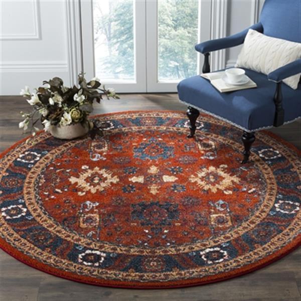 Safavieh Vintage Hamadan 6.58-ft Orange and Blue Indoor Area Rug