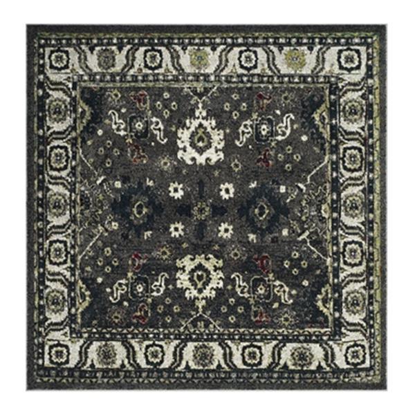 Safavieh Vintage Hamadan 6.5-ft x 15.16-ft Dark Grey and Ivory Indoor Area Rug
