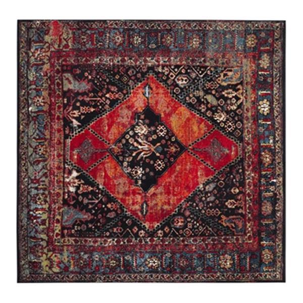 Safavieh Vintage Hamadan 6.58-ft x 15.41-ft Orange and Multicolor Indoor Area Rug