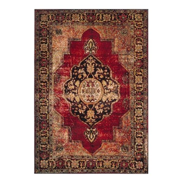 Safavieh Vintage Hamadan 20-ft x 2.16-ft  Red and Multicolour Indoor Area Rug