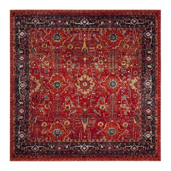 Safavieh Vintage Hamadan 6.58-ft x 6.58-ft Orange and Navy Indoor Area Rug