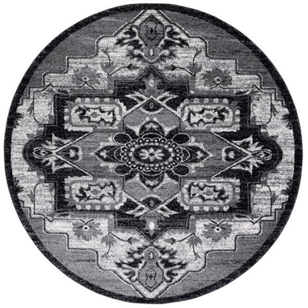 Safavieh Vintage Hamadan 6.58-ft Light Grey and Grey Indoor Area Rug