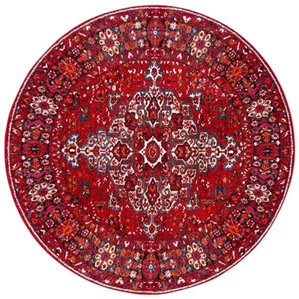 Safavieh Vintage Hamadan 6.58-ft Red and Multicolour Indoor Area Rug