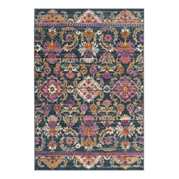 Safavieh Madison 9-ft x 6-ft Blue and Fuchsia Area Rug