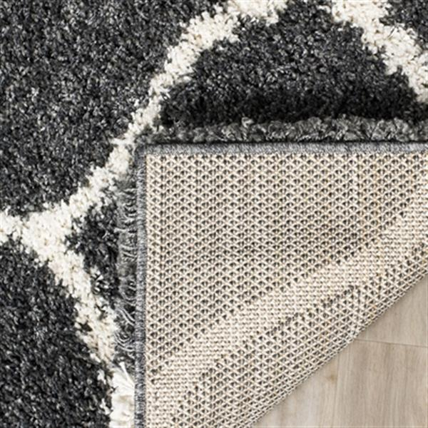 Safavieh Hudson Shag 7.5-ft x 5.08-ft  Dark Grey and Ivory Area Rug
