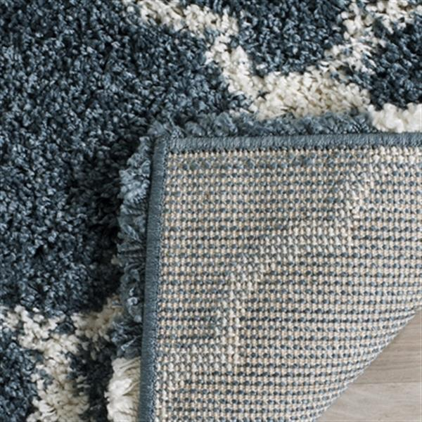 Safavieh Hudson Shag 7-ft Slate Blue and Ivory Area Rug