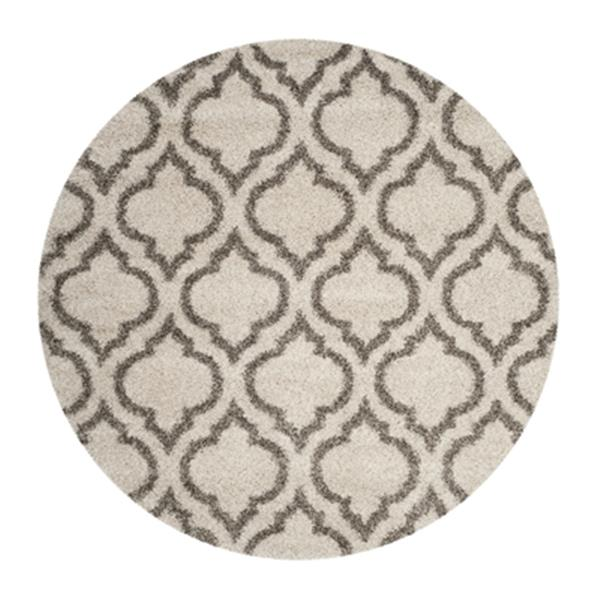 Safavieh Hudson Shag 7.5-ft x 5.08-ft Ivory and Grey Area Rug