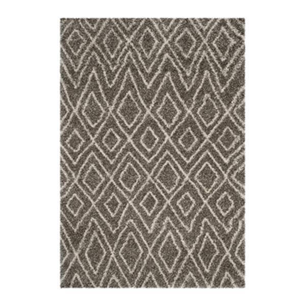 Safavieh Hudson Shag 7.5-ft x 5.08-ft Grey and Ivory Area Rug