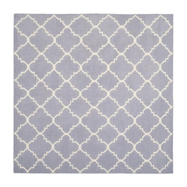 Safavieh Dhurries 6-ft x 6-ft Flat Weave Purple and Ivory Area Rug