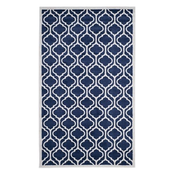 Safavieh Amherst 8-ft x 5-ft Navy and Beige Indoor/Outdoor Rug