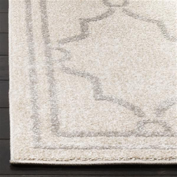 Safavieh Amherst 8-ft x 5-ft Ivory and Light Grey Geometric Indoor/Outdoor Rug