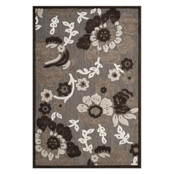 Safavieh Cottage 9.5-ft x 6.58-ft Brown and Brown Indoor/Outdoor Rug