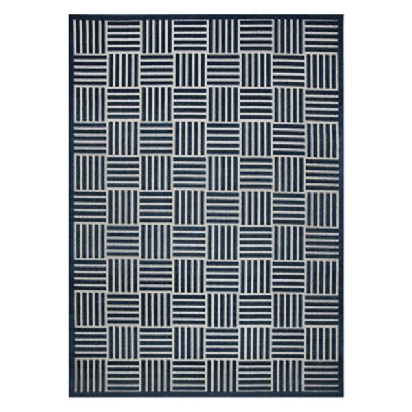 Safavieh Cottage 9.5-ft x 6.58-ft Blue and Grey Indoor/Outdoor Rug