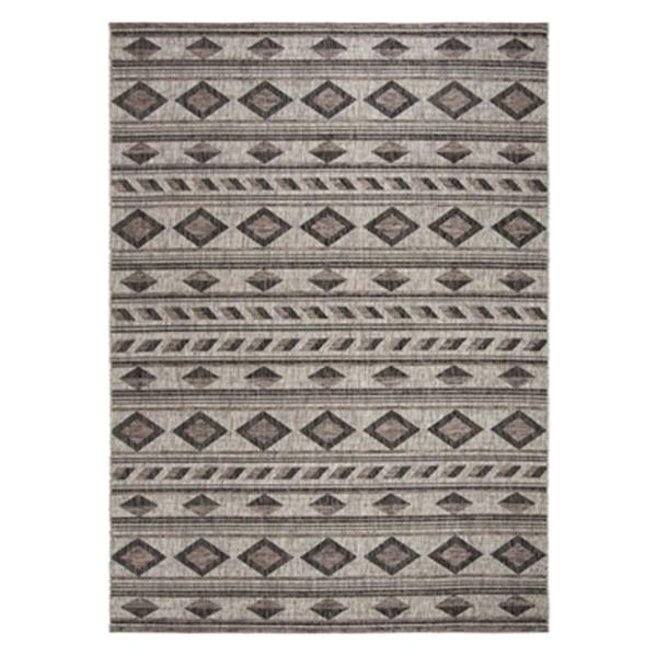 Safavieh Courtyard Indoor/Outdoor Area Rug 9.5' x 6.58' Grey/Black