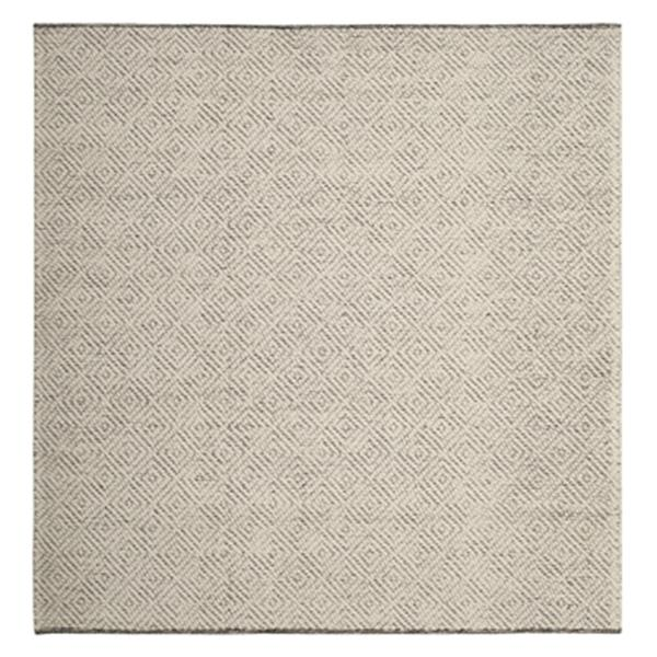 Safavieh Natura 6-ft x 6-ft Ivory and Light Grey Diamonds Hand Tufted Area Rug