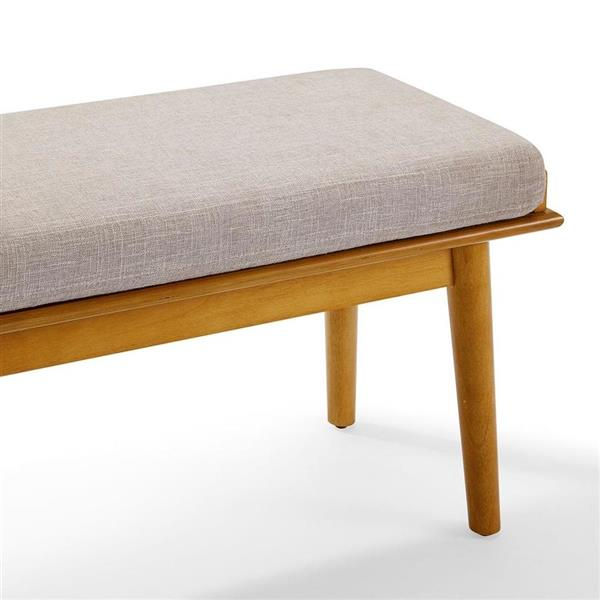Crosley Furniture Landon 24.75-in x 46.5-in Acorn Indoor Accent Bench