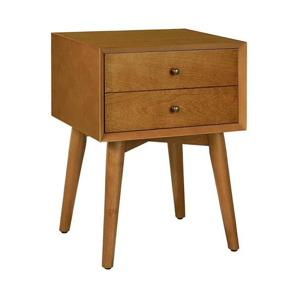 Crosley Furniture Landon 23.75-in x 18-in Acorn Brown Nightstand