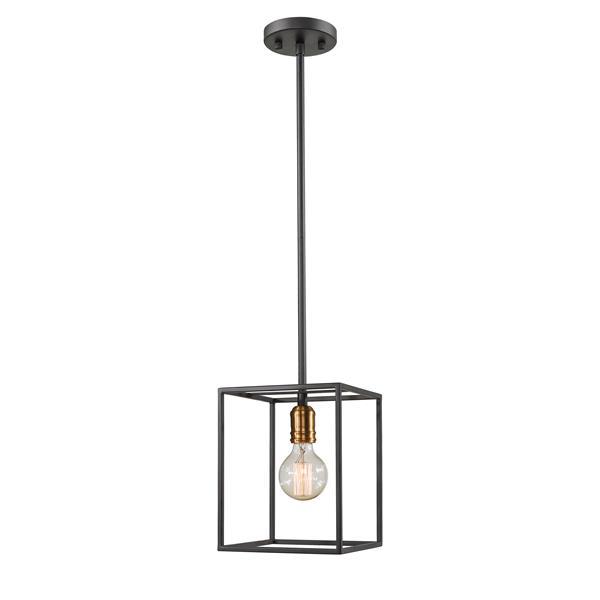 Luminaire suspendu à 1 lumière Troubadour, bronze