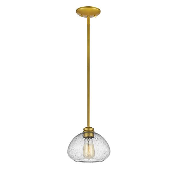 Z-Lite Amon 8-In x 6.5-In Gold 1-Light Pendant