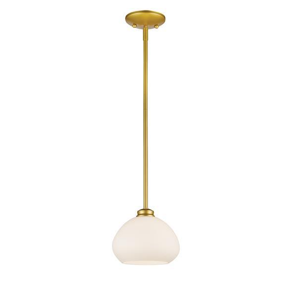 Z-Lite Amon 8-In x 6.5-In Gold 1-Light Pendant