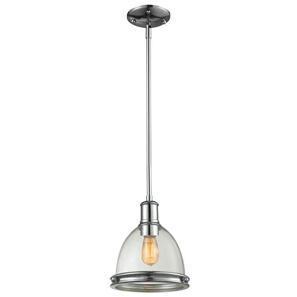 Z-Lite Mason Chrome 1-Light Pendant Light