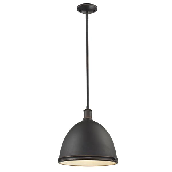 Z-Lite Mason Bronze 1-Light Pendant Light