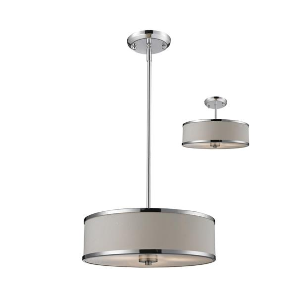 Z-Lite Cameo Chrome 3 Light Convertible Pendant Light
