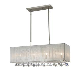 Luminaire suspendue à 4 lumières Aura, nickel brossé