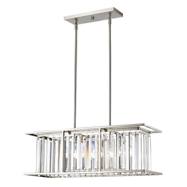 Z-Lite Monarch 5-Light Suspended Fixture Brushed Nickel