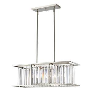Luminaire suspendue à 5 lumières  Monarch, nickel brossé