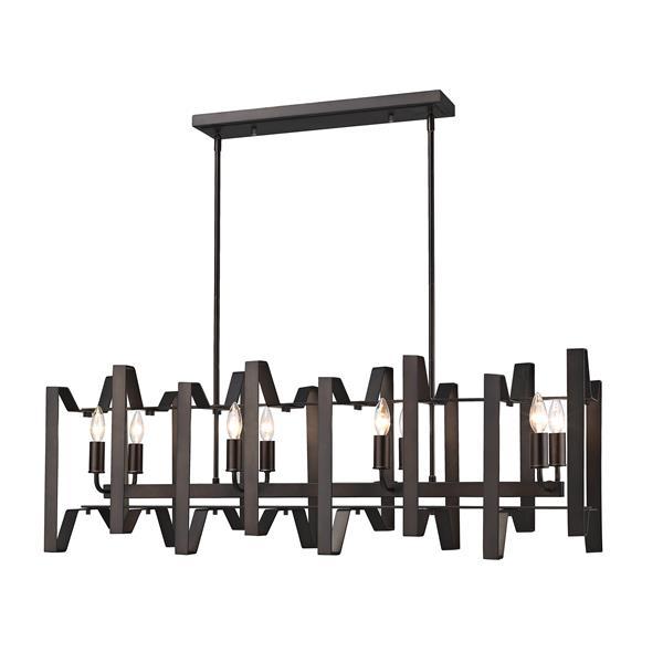 Luminaire suspendue à 8 lumières Marsala, bronze