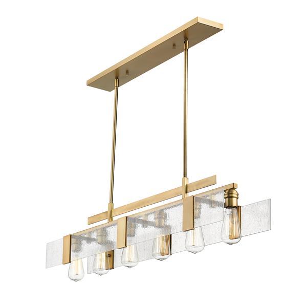 Luminaire suspendue à 6 lumières Gantt, laiton