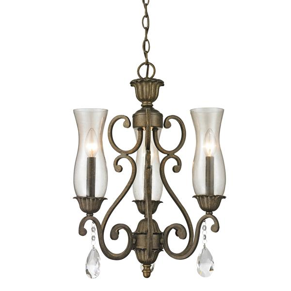 Z-Lite Melina 3-Light Golden Bronze Chandelier