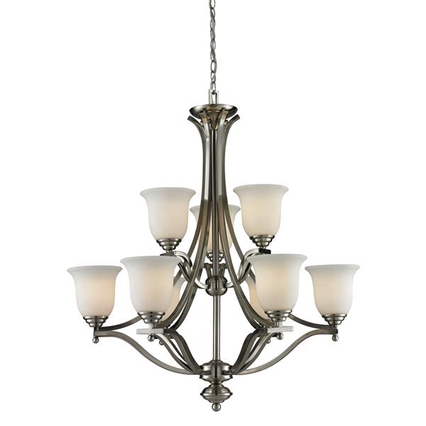 Z-Lite Lagoon Brushed Nickel 9-Light Chandelier