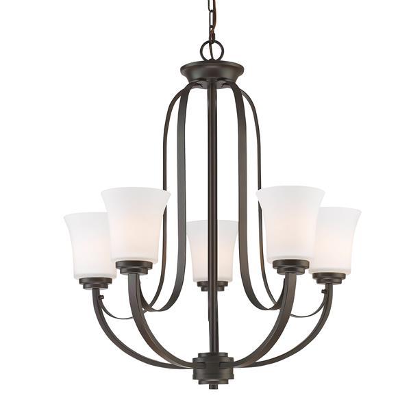 Lustre à 5 lumières Halliwell, bronze