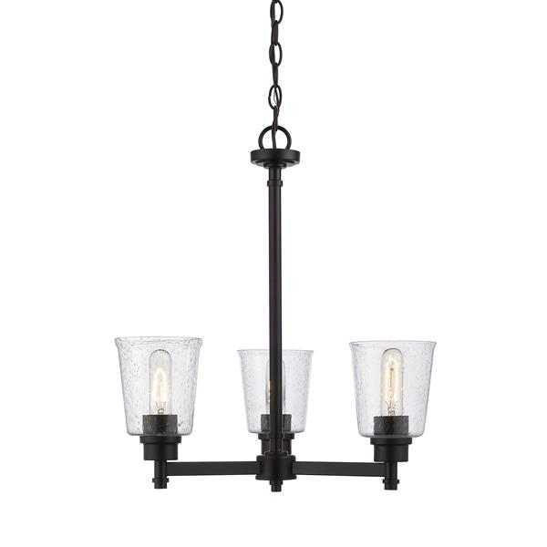 Z-Lite Bohin 3-Light Matte Black Chandelier