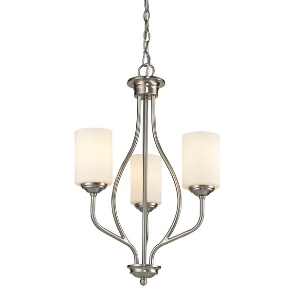 Z-Lite Cardinal 3-Light 13.5-in Brushed Nickel Chandelier