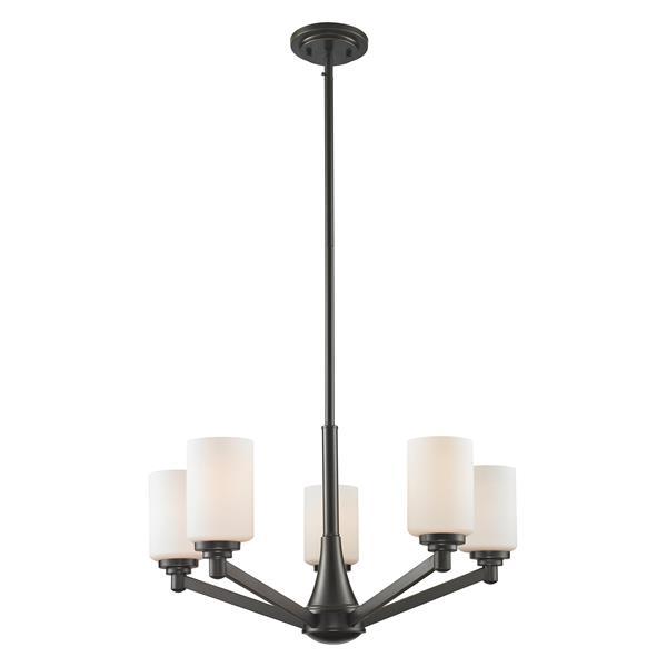 Lustre à 5 lumières Montego, bronze/cuivre