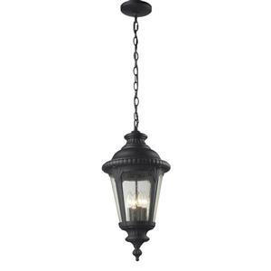Medow Outdoor Suspended Light - Black