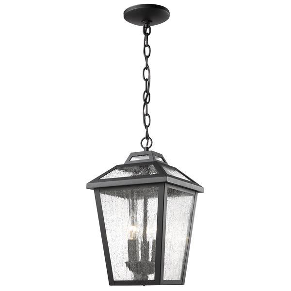 Luminaire suspendue extérieure à 3 lumières Bayland, noir