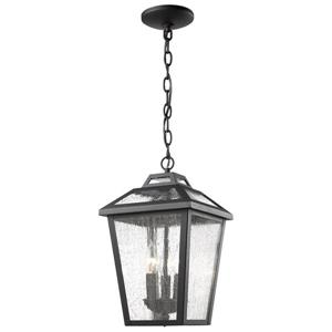 Z-Lite Bayland 3-Light Outdoor Suspended Light - Black
