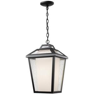 Luminaire suspendue extérieure à 1 lumière Memphis, noir